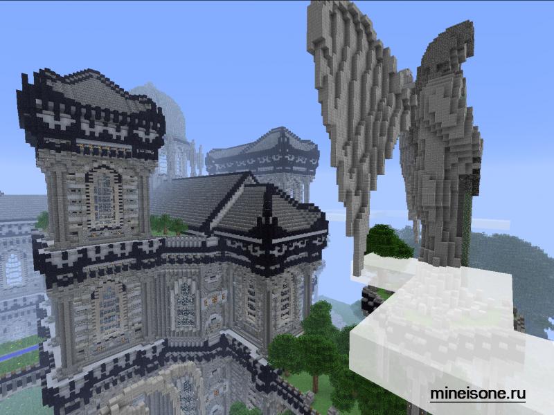 карта средневековый замок майнкрафт #9