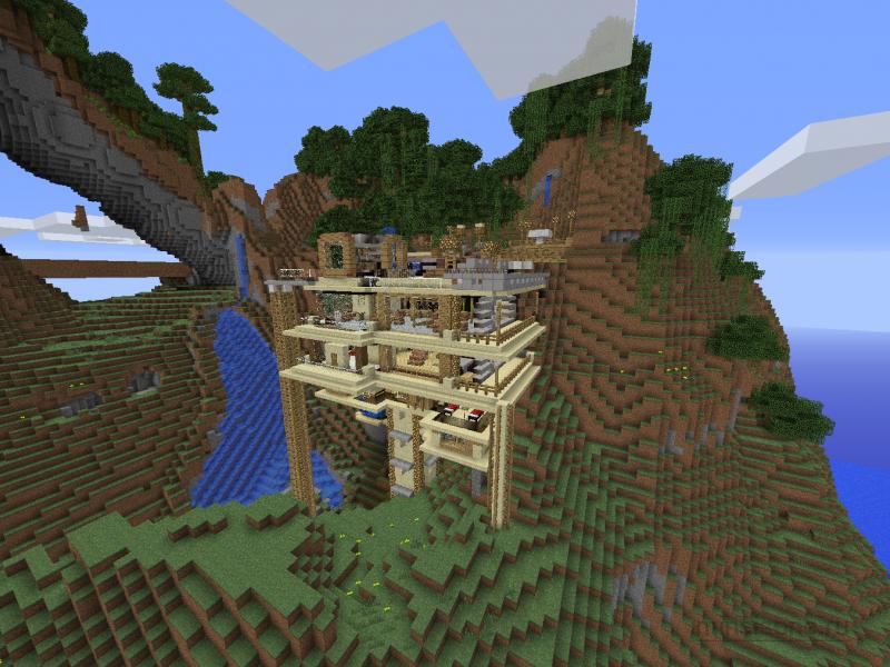 дом на дереве карта для майнкрафт 1.7.10 #7