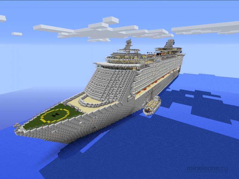 Карта в Майнкрафт Корабль