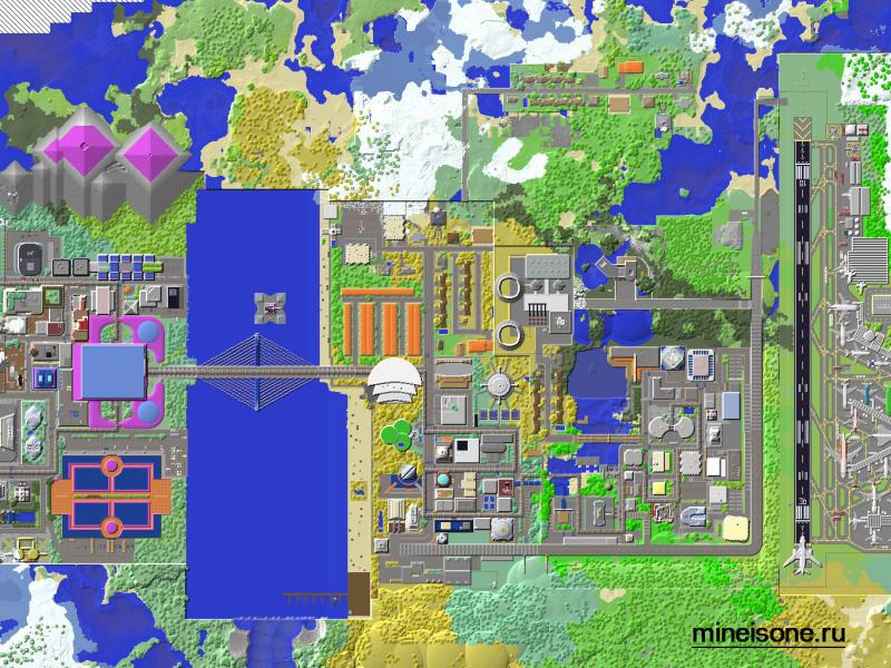 карты для minecraft карти мегаполис