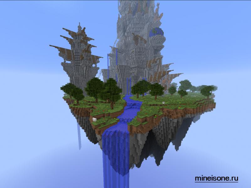 скачать карту летающие острова для майнкрафт 1.7.10 #11
