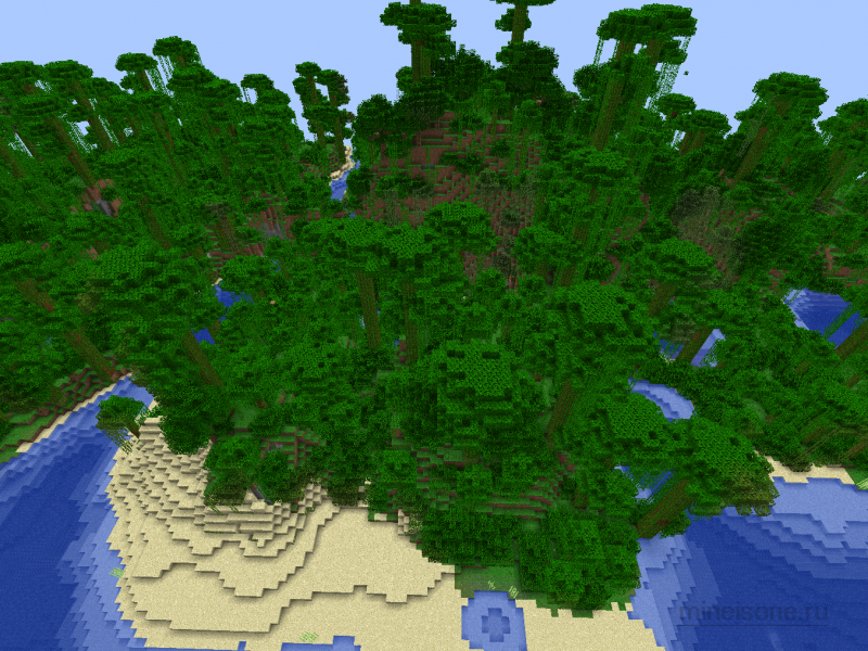 карта для майнкрафт 1.7.2 красивые большой остров #10