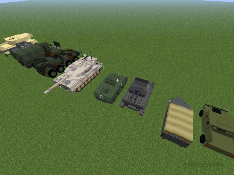 в каком майнкрафте есть оружие танк самолеты