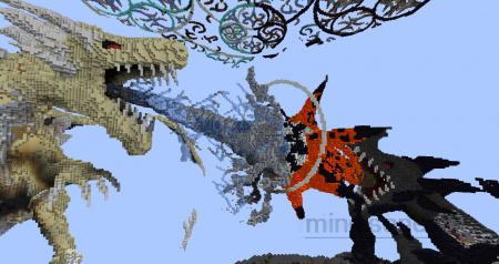 карты майнкрафт с драконом #11