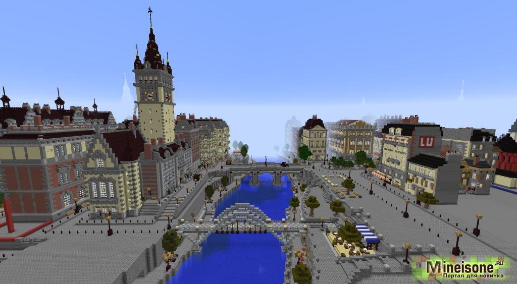 Скачать карту Майнкрафт 1.7 10 большой город | VK