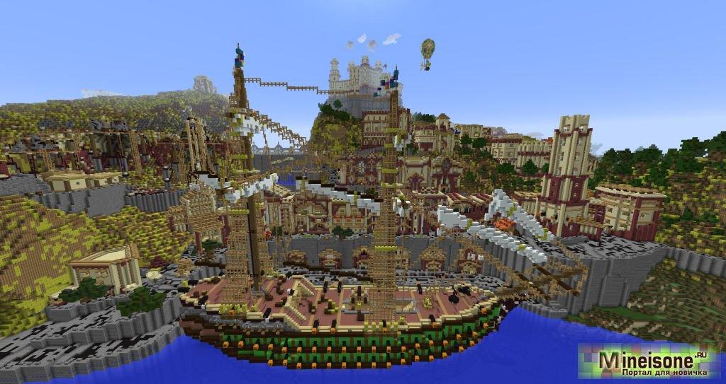 Карта Средневековый город для Minecraft (Medieval City).